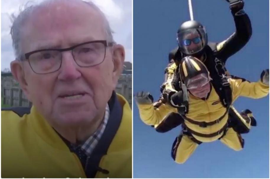 Hombre más viejo en lanzarse en paracaídas.
