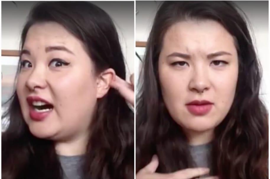 Mujer sorda responde preguntas absurdas.