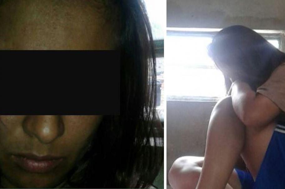 Fotos que la mujer envió a su esposo durante su supuesto secuestro