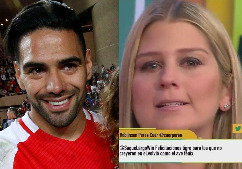 Falcao y Andrea Guerrero