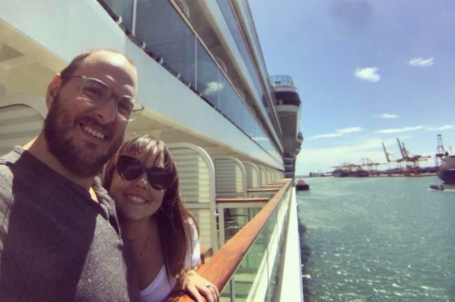 El actor Andrés Parra y su esposa Diana Cáliz