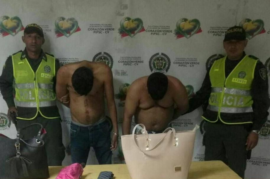 Keiner Solano Mehane y su cómplice Julio César Juvinao