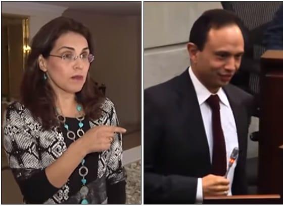 Viviane Morales y Carlos Bernal