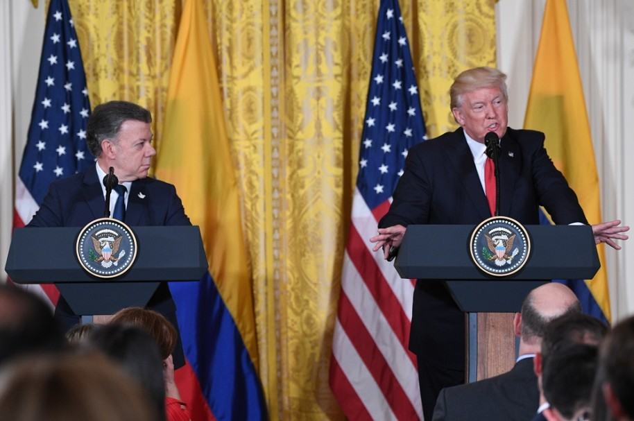 Juan Manuel Santos y Donald Trump