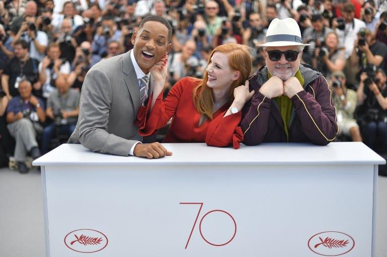 Will Smith, Jessica Chastain y Pedro Almodóvar en el Festival de Cannes. Pulzo.com