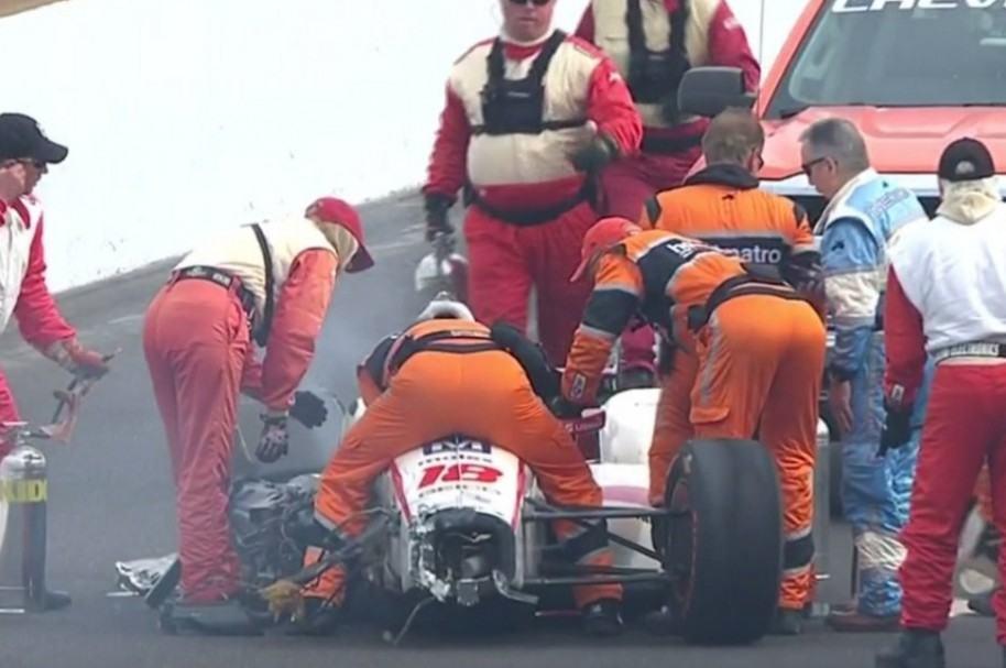 Fuerte Choque Indycar