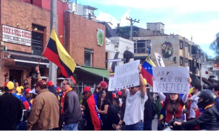 Venezolanos en Bogotá (Twitter)