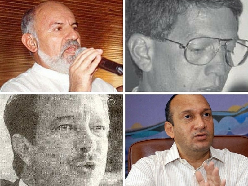 Exalcaldes Édgar George González, Bernardo Hoyos, Humberto Caiaffa Rivas y Guillermo Hoennigsberg.