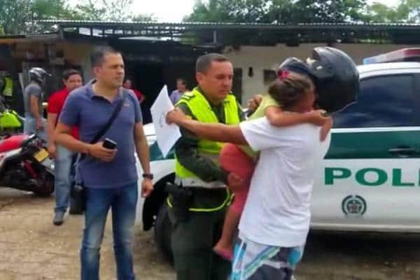 Menor rescatada en Melgar (Tolima)