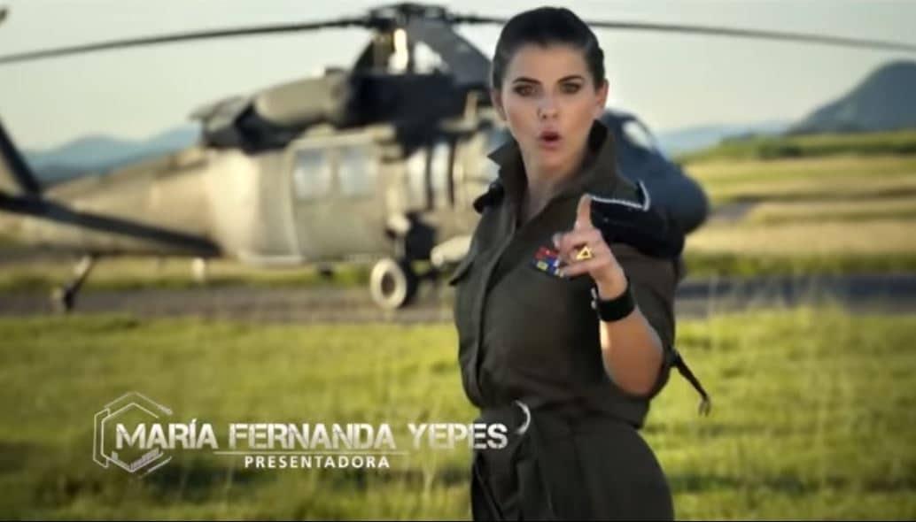 María Fernanda Yepes, presentadora de 'Soldados'.