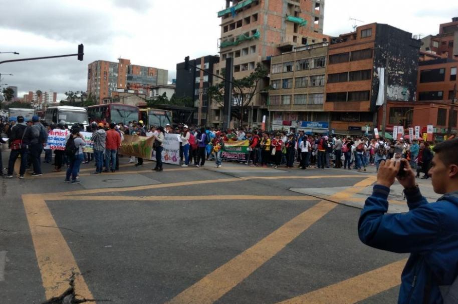 Marchas en la Avenida Caracas