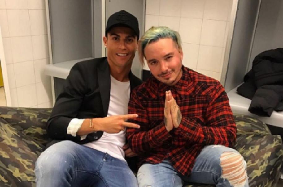 Cristiano Ronaldo y J Balvin