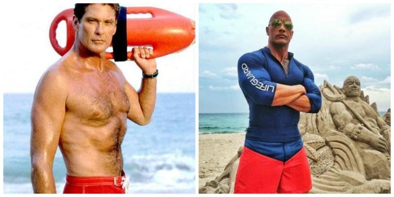 David Hasselhoff y Dwayne Johnson - Pulzo.com
