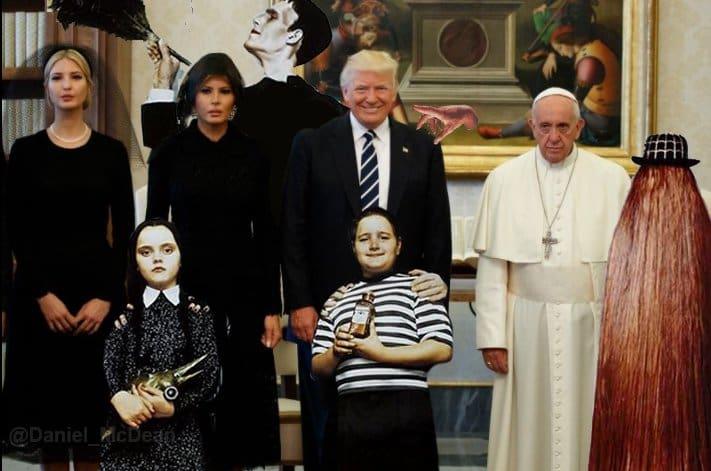 Meme de Trump con el papa Francisco