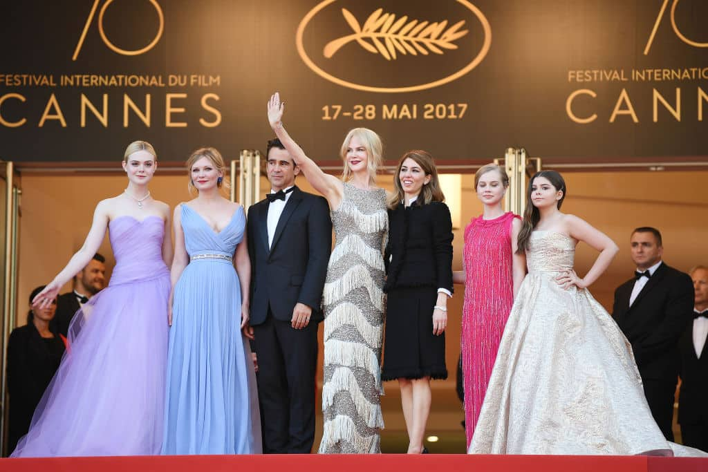 Elle Fanning, Kirsten Dunst, Colin Farrell, Nicole Kidman, Sofia Coppola, Angousie Rice y Addison Riecke