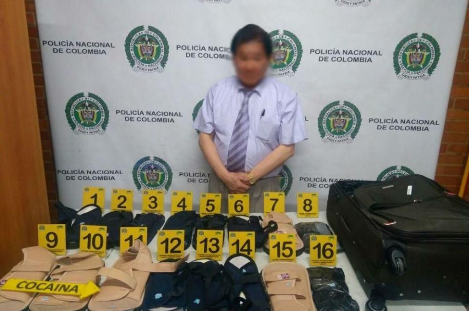 Ciudadano chino capturado con droga, en el aeropuerto El Dorado de Bogotá