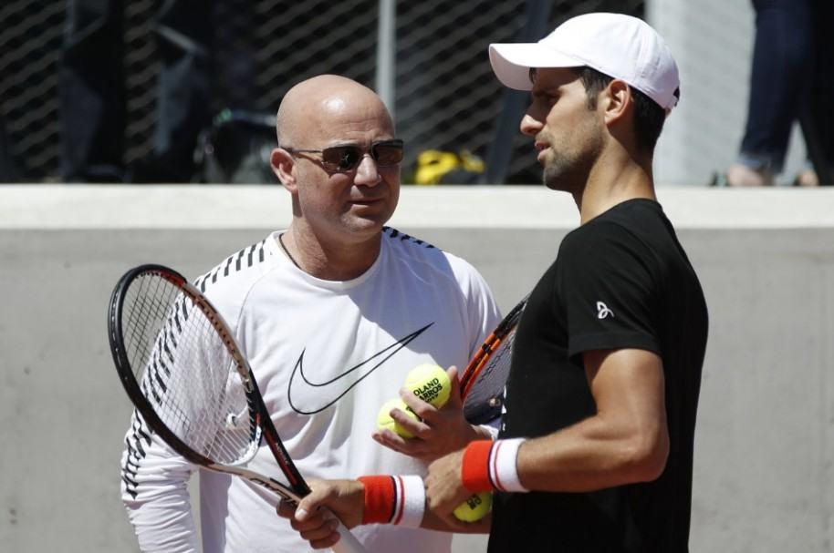 Djokovic y Agassi