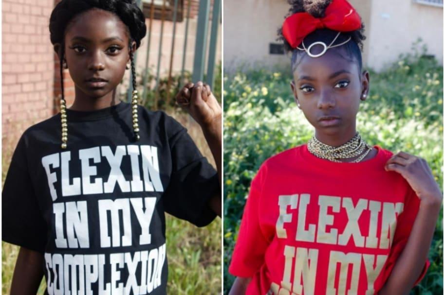 Niña negra lucha contra el racismo.