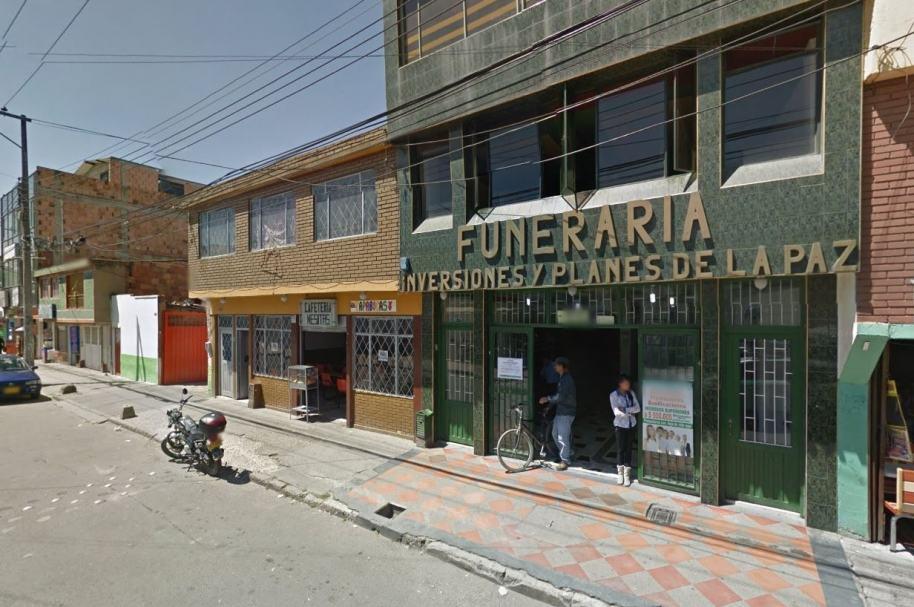 Funeraria Inversiones y Planes de la Paz, ubicada en Bosa, sur de Bogotá