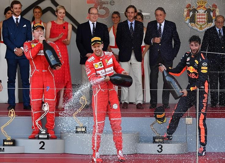 Podio del GP de Mónaco 2017  de F1