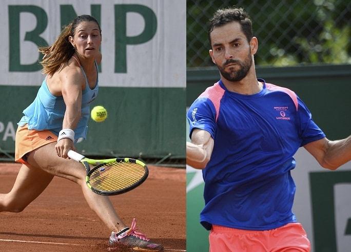 Mariana Duque y Santiago Giraldo en Ronald Garros.