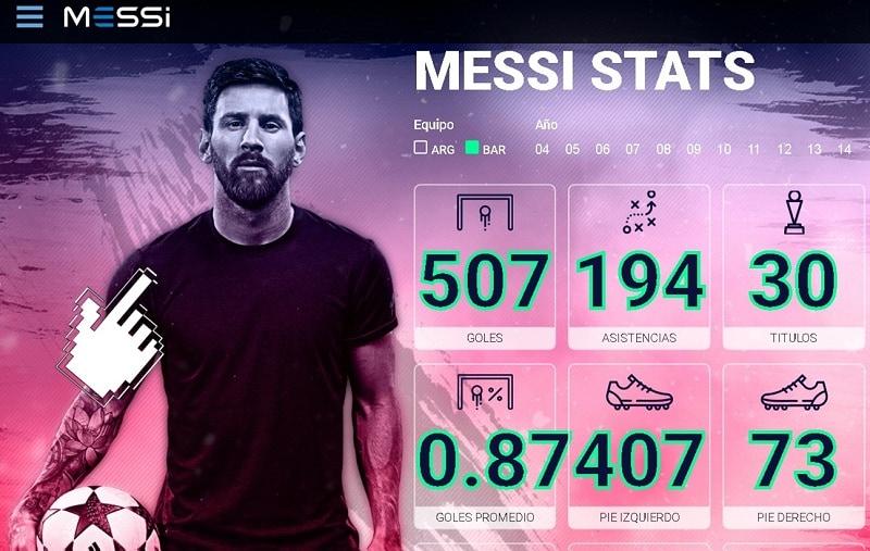 Messi.com, el sitio oficial