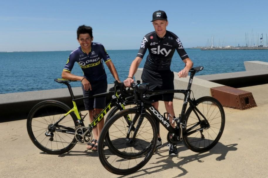 Esteban Chaves y Chris Froome