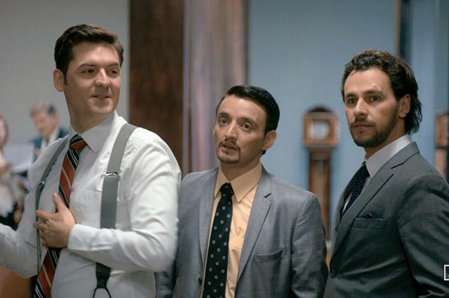 Rodrigo Candamil, Juan Pablo Barragán e Iván López, actores de 'La ley del corazón'.