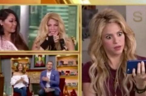 Con la boca abierta, así quedó Shakira al ver video de imitadora