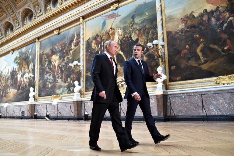 Emmanuel Macron y Vladimir Putin. Pulzo.com