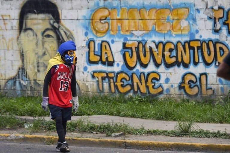 Desmanes por marchas en Venezuela