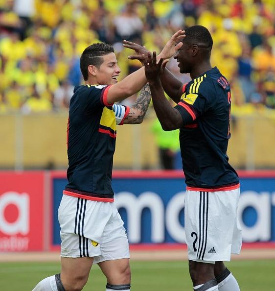 Cristian Zapata y James Rodríguez