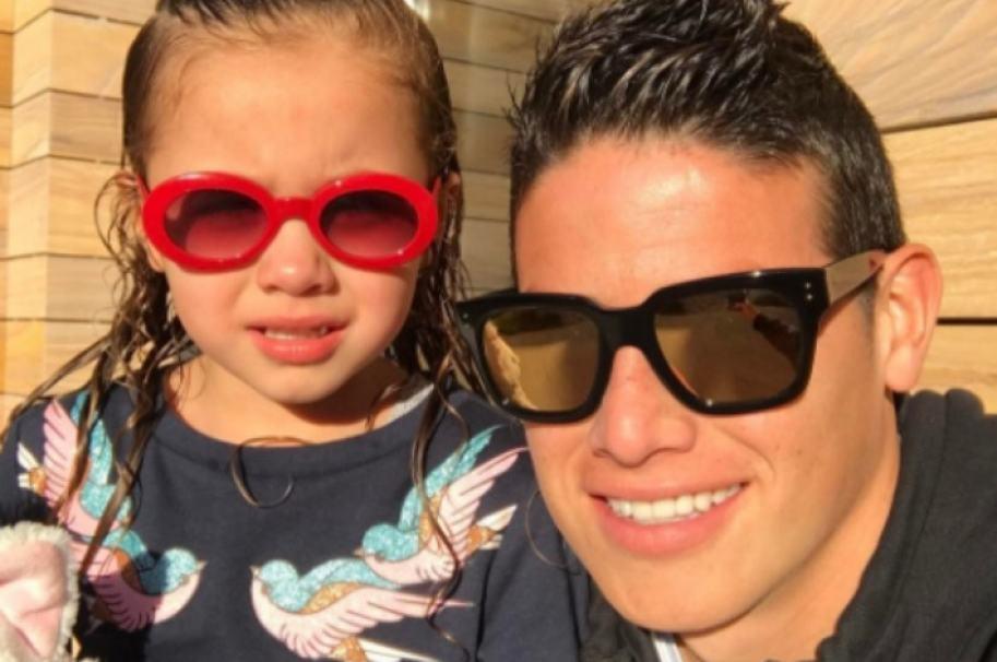 James Rodríguez y su hija, Salomé. Pulzo.com