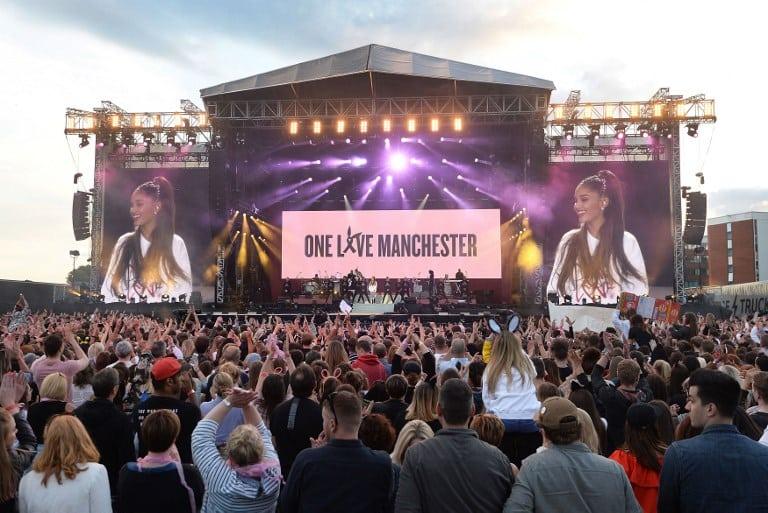 Ariana Grande durante su presentación en 'One Love Manchester'. Pulzo.com