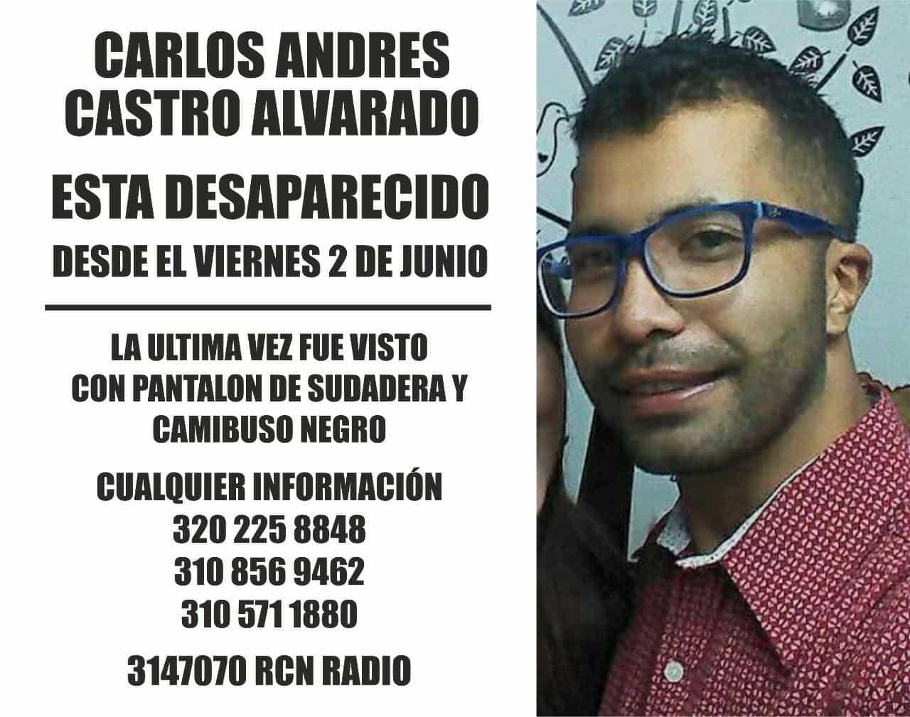 Carlos Andrés Castro Alvarado, desaparecido