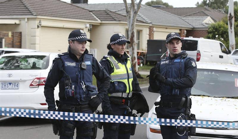 Policía en Melbourne después del incidente