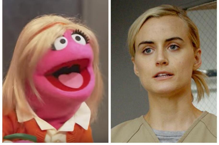 Piper, de 'Orange Is The New Black', y su versión marioneta. Pulzo.com