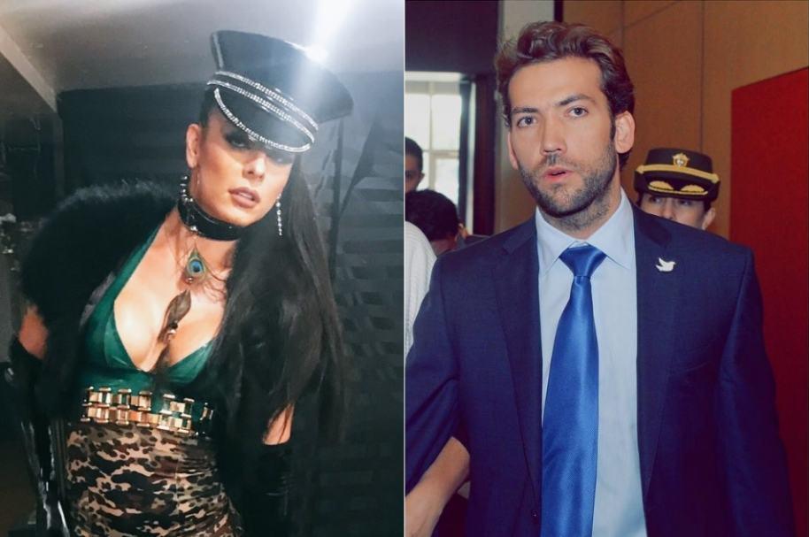 Danna Sultana, modelo trans, y Martín Santos, hijo del presidente Juan Manuel Santos.