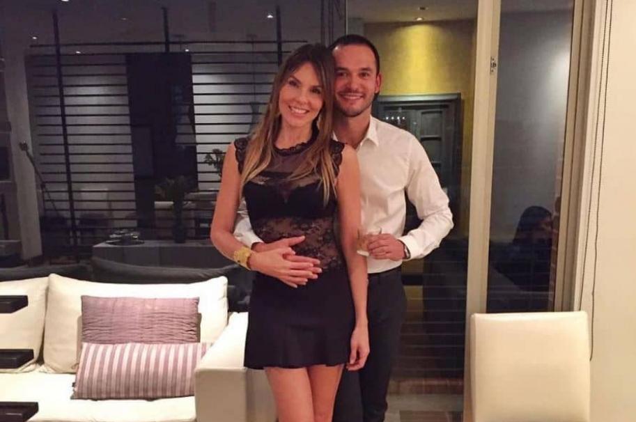 La exreina Paula Andrea Betancur y su novio, el dermatólogo Luis Miguel Zabaleta Jiménez.
