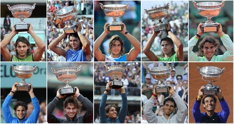 Rafael Nadal, 10 veces ganador del Roland Garros-