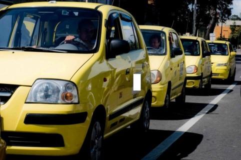 Taxis en Bogotá.