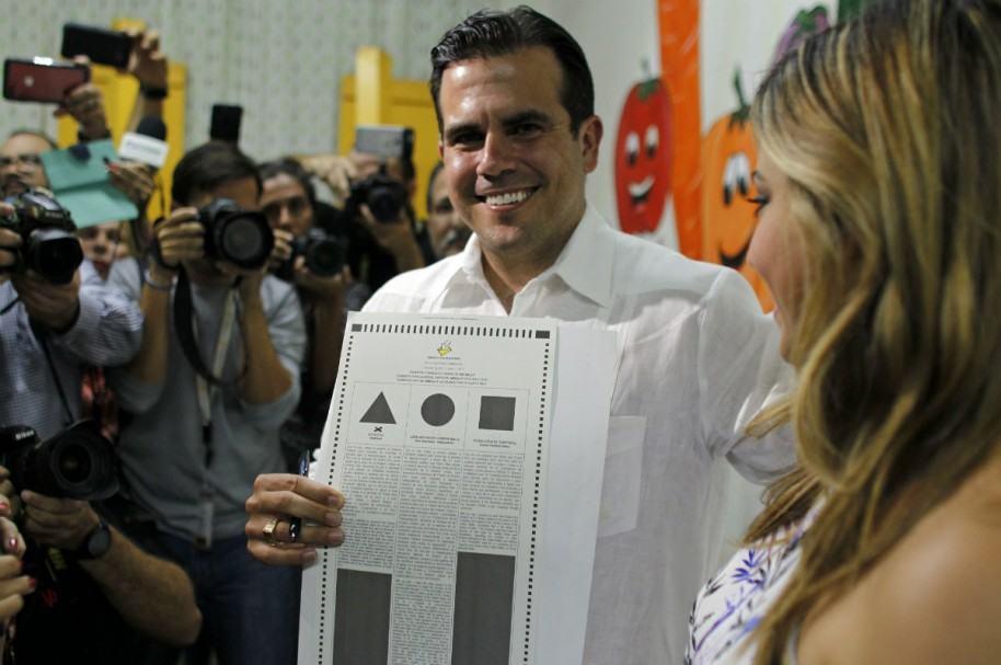 Gobernador de Puerto Rico, Ricardo Rosselló, y su esposa, Beatriz Rosselló