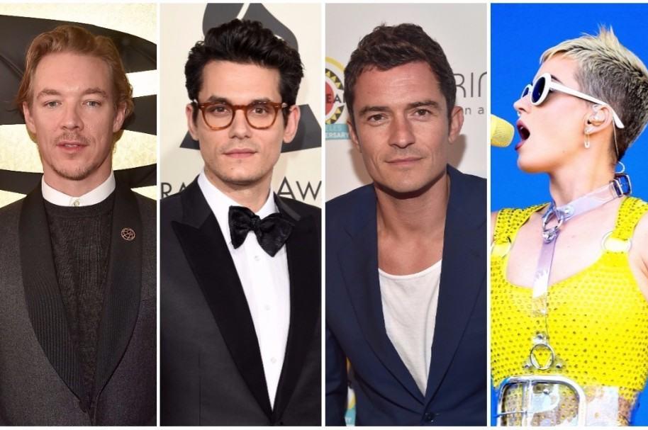 Diplo / John Mayer /Orlando Bloom / Katy Perry