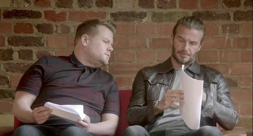 James Corden y David Beckham. Pulzo.com