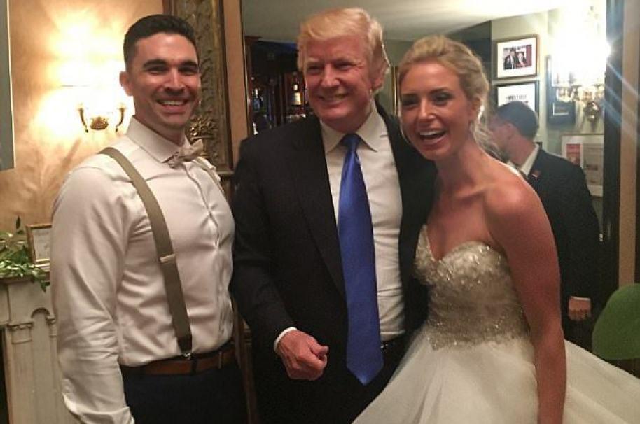 Trump en boda en Nueva Jersey