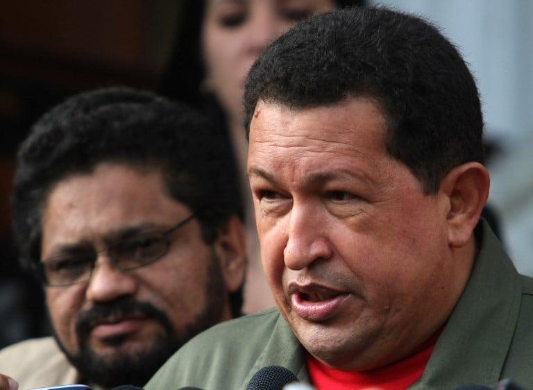Hugo Chávez e 'Iván Márquez'