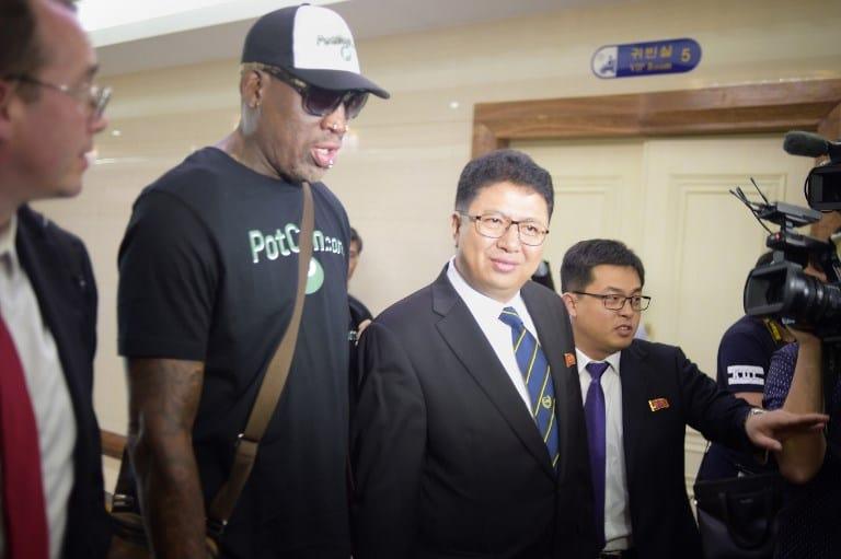 Dennis Rodman y Son Gwang-Ho