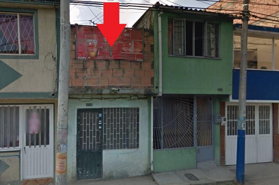 En esta vivienda, en la localidad de Engativá, fue encontrado el cadáver