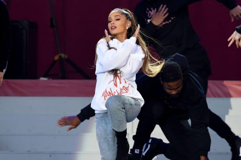 Ariana Grande durante su presentación en 'One Love Manchester'