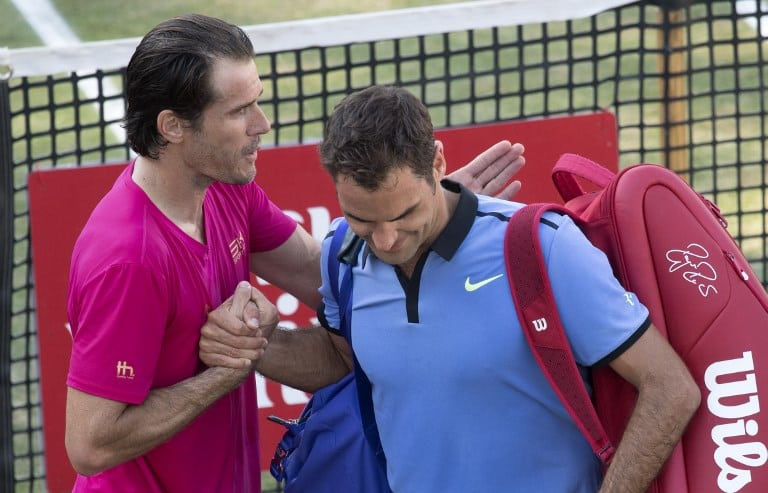 Tommy Haas y Roger Federer